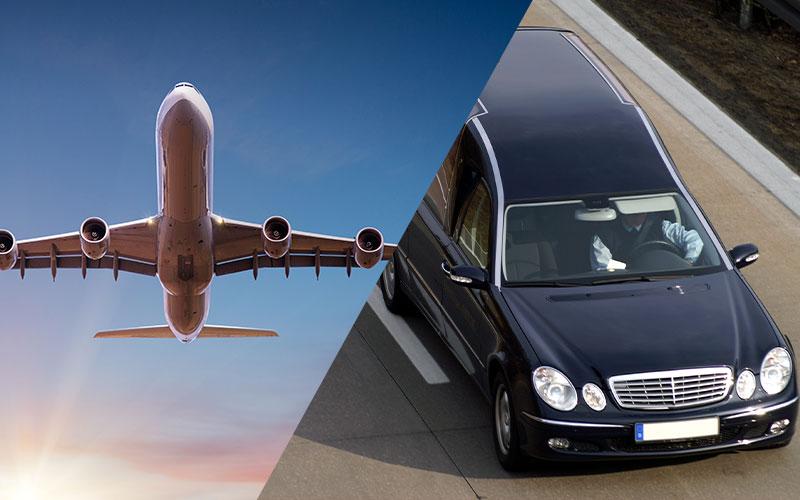 transport funéraire par avion et corbillard aménagé
